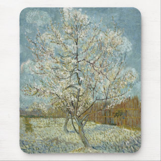 Pink Peach Tree by Vincent Van Gogh Mouse Pad