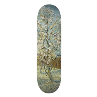 Pink Peach Tree by Vincent Van Gogh Skateboard