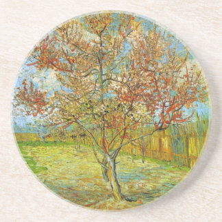 Pink Peach Tree in Blossom  by Vincent van Gogh Beverage Coaster