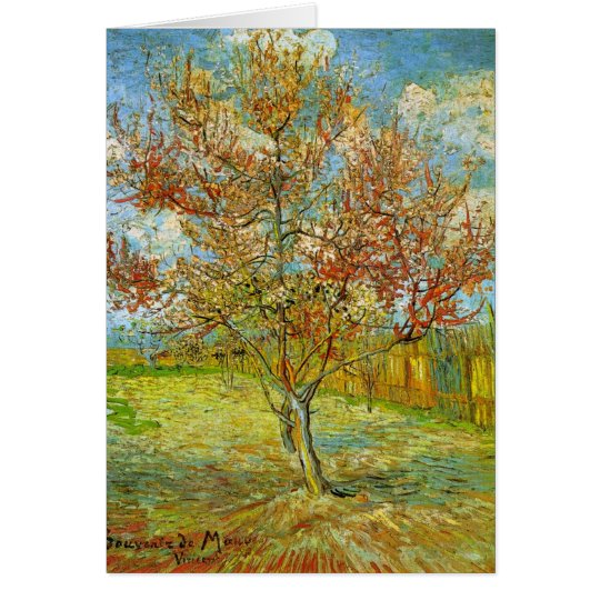 Pink Peach Tree in Blossom  by Vincent van Gogh Card