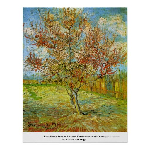 Pink Peach Tree in Blossom  by Vincent van Gogh Print