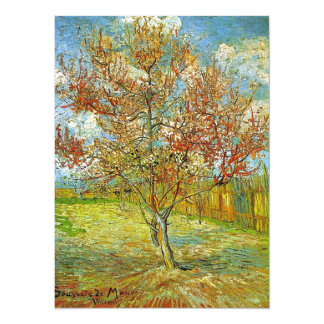 Pink Peach Tree in Blossom Reminiscence of Mauve Card