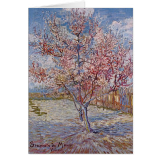 Pink Peach Tree in Blossom (Reminiscence of Mauve) Card