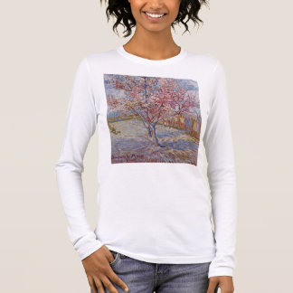 Pink Peach Tree in Blossom (Reminiscence of Mauve) Long Sleeve T-Shirt