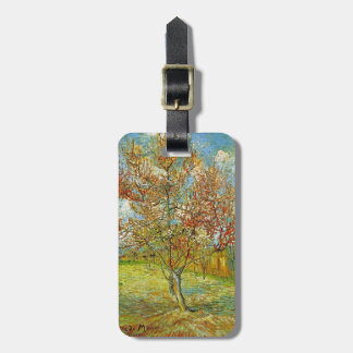 Pink Peach Tree in Blossom Reminiscence of Mauve Luggage Tag