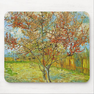 Pink Peach Tree in Blossom Reminiscence of Mauve Mouse Pad