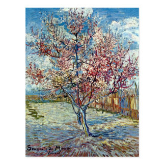 Pink Peach Tree Van Gogh Fine Art Postcard
