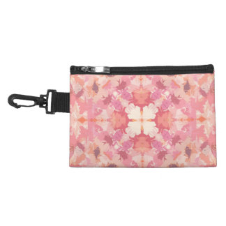 Pink Peach Watercolor Abstract Pattern Accessories Bag