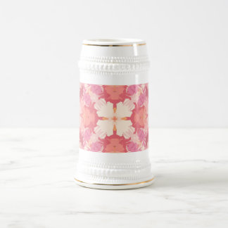 Pink Peach Watercolor Abstract Pattern Beer Stein