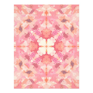 Pink Peach Watercolor Abstract Pattern Flyer