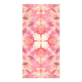 Pink Peach Watercolor Abstract Pattern Photo Greeting Card