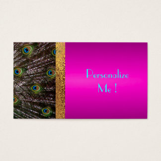 Pink Peacock Chic Trendy Girly / House-of-Grosch Business Card