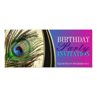 Pink Peacock Exotic Goddess Party Invitations