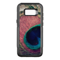 Pink Peacock Feather Chic OtterBox Commuter Samsung Galaxy S8  Case