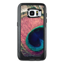 Pink Peacock Feather Chic OtterBox Samsung Galaxy S7 Edge Case