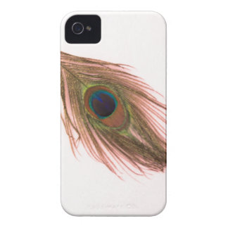 Pink Peacock Feather iPhone 4 Case-Mate Case