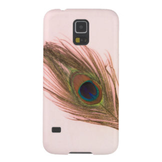 Pink Peacock Feather P Case For Galaxy S5