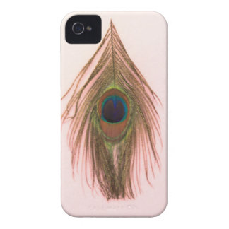 Pink Peacock Feather P iPhone 4 Cover