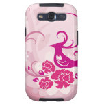 Pink Peacock,Samsung Galaxy S3 Vibe Case Samsung Galaxy SIII Cover
