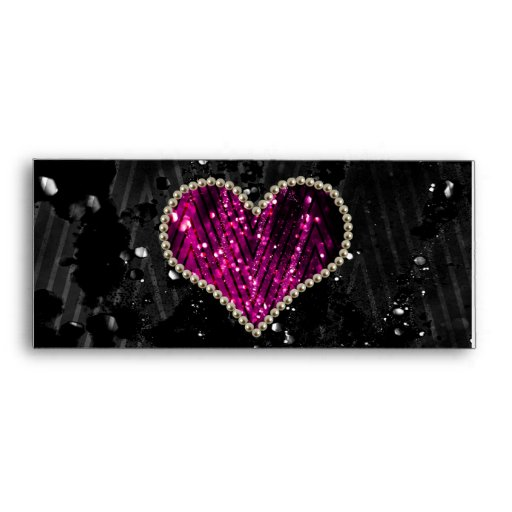 Pink Pearl Heart Envelopes