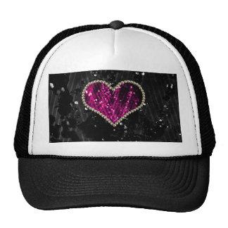 Pink Pearl Heart Trucker Hat