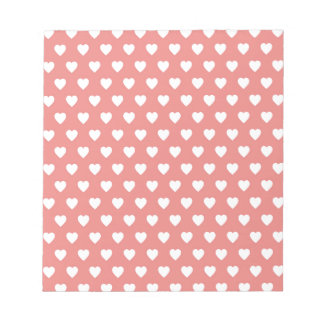Pink Pearl Hearts Pattern Note Pad
