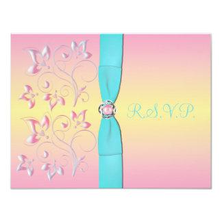 Pink Pearl & Pretty Pastels Sweet 16 RSVP Card