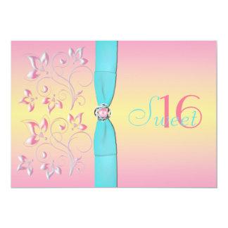 Pink Pearl & Pretty Pastels Sweet Sixteen Invite