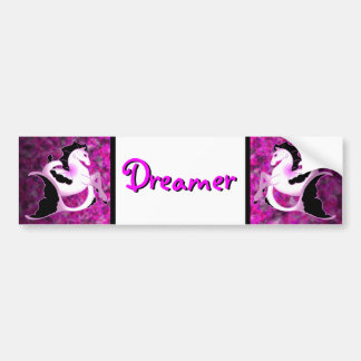 Pink Pearl Seahorse Car Bumper Sticker