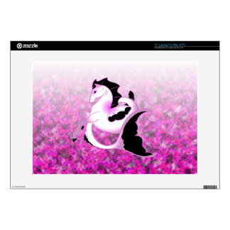 """Pink Pearl Seahorse Decals For 15"""" Laptops"""