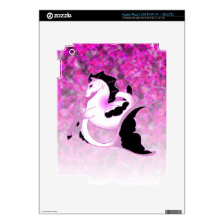 Pink Pearl Seahorse Decals For iPad 3