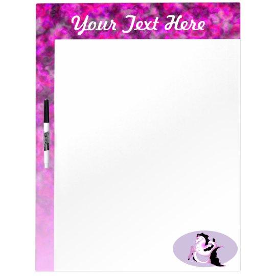 Pink Pearl Seahorse Dry-Erase Board