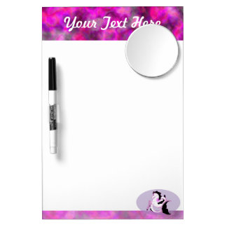 Pink Pearl Seahorse Dry Erase Board With Mirror