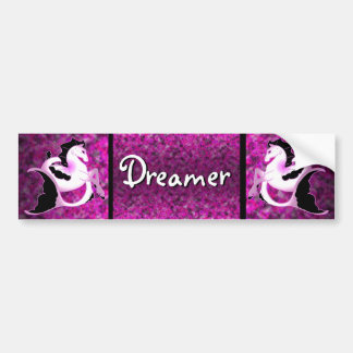 Pink Pearl Seahorses Car Bumper Sticker