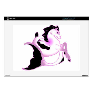 Pink Pearl Seahorses Laptop Decals