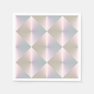 Pink Pearly Diamond Tile Pattern Paper Napkin