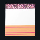 "Pink Pebbled Glam small sketch and note pad<br><div class=""desc"">Work out your creative ideas on this 5.5x6 pad. Sketch and take lined notes on your project,  or use it as a creative diary!</div>"