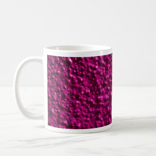 Pink pebbledash classic white coffee mug