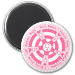Pink Pedal Power 2 Inch Round Magnet