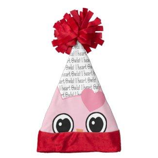 Pink Peek a Boo Owl Christmas