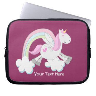 Pink Pegasus (customizable) Laptop Computer Sleeve