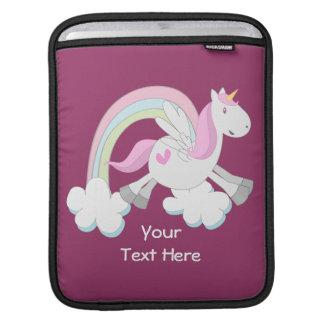 Pink Pegasus (customizable) Sleeve For iPads