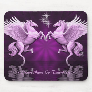 Pink Pegasus Reflections Mouse Pad