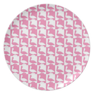 pink pelicane plate