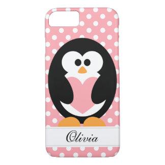 Pink Penguin Love iPhone 7 Case
