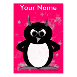 Pink Penguin Profile Cards Business Card