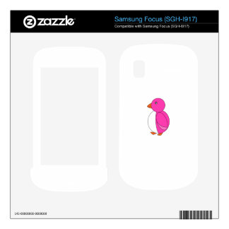 Pink penguin decal for samsung focus