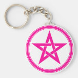 pink pentacle keychains