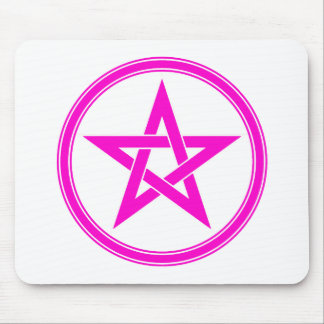 pink pentacle mouse pad