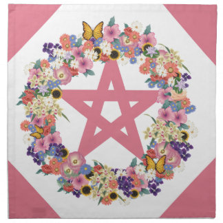 Pink Pentacle Set of 4 (20x20) Dinner Napkins